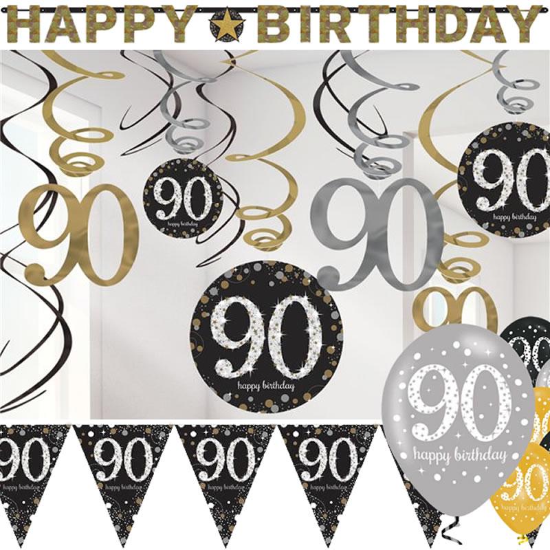 90. Geburtstag Deko