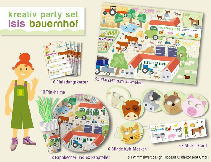 46tlg Bauernhof Party Set Kindergeburtstag Tiere Kinder Ebay