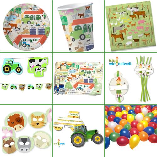 Bauernhof, Farm U0026 Tiere * Alles Zum Kindergeburtstag: Geschirr, Einladung