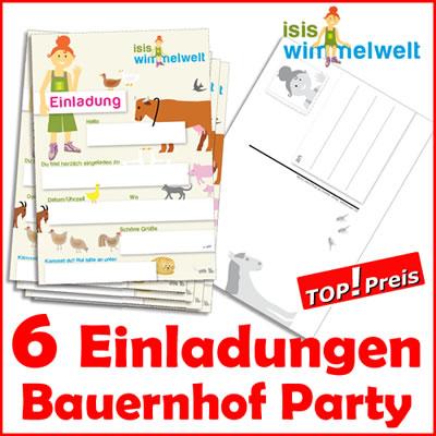 Einladungskarten Bauernhof Tieren f. Kindergeburtstag | eBay