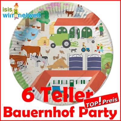 46tlg bauernhof party set kindergeburtstag tiere kinder ebay for Kinder party set