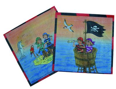 20 piraten servietten f r kindergeburtstag von d ll ebay. Black Bedroom Furniture Sets. Home Design Ideas