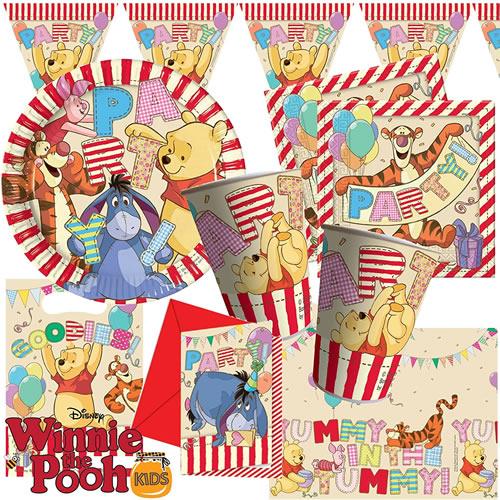 Partyset 36 Winnie Puuh Kinderparty Deko Set für Geburtstag kleine Kinder tlg