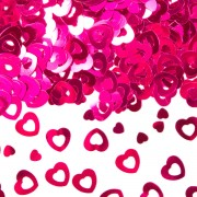 Konfetti Herzen in Rot
