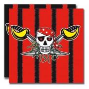 20 Servietten Piraten - Red Pirate