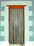 Türvorhang in Silber