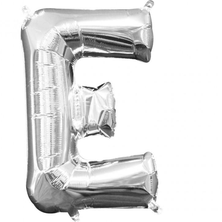 "Air-Filled Folienballon silber - ""E"" (40cm)"