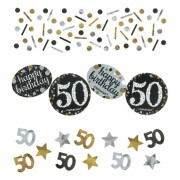 3 Tüten Konfetti 50. Geburtstag