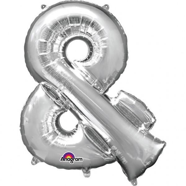 "Air-Filled Folienballon silber - ""&"" (40cm)"