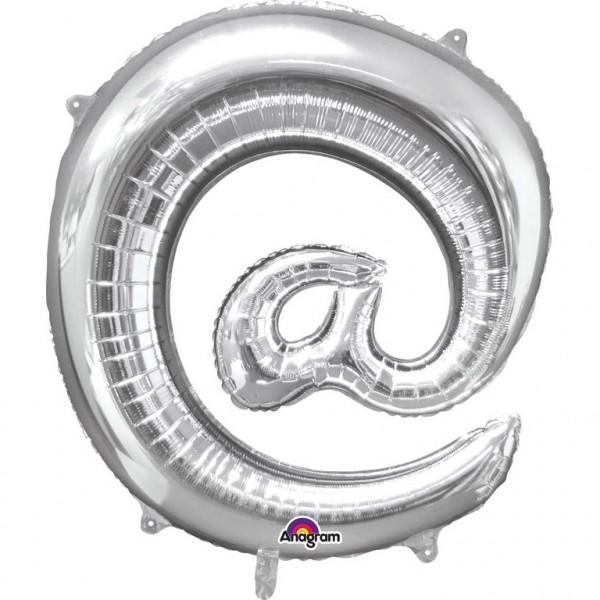 "Air-Filled Folienballon silber - ""@"" (40cm)"