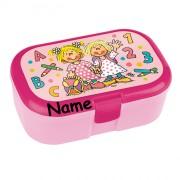 "Lunchbox ""Schulanfang Mädchen"" - Mit Wunschname"