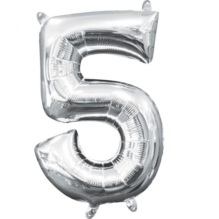 "Air-Filled Folienballon Silber - ""5"" (40cm)"