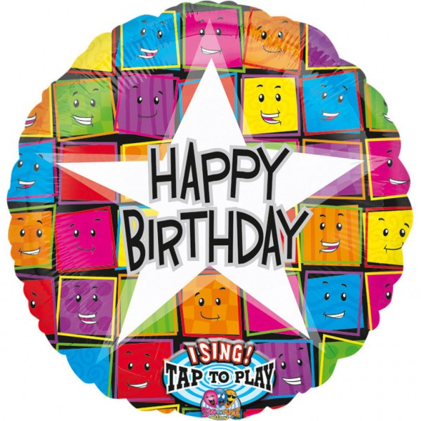 Singender Folienballon - Happy Birthday