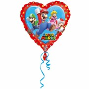 Folienballon Super Mario (Herzform)