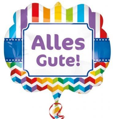 Supershape Folienballon - Alles Gute! (63x55cm)