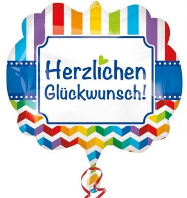 Supershape Folienballon - Herzlichen Glückwunsch (63x55cm)