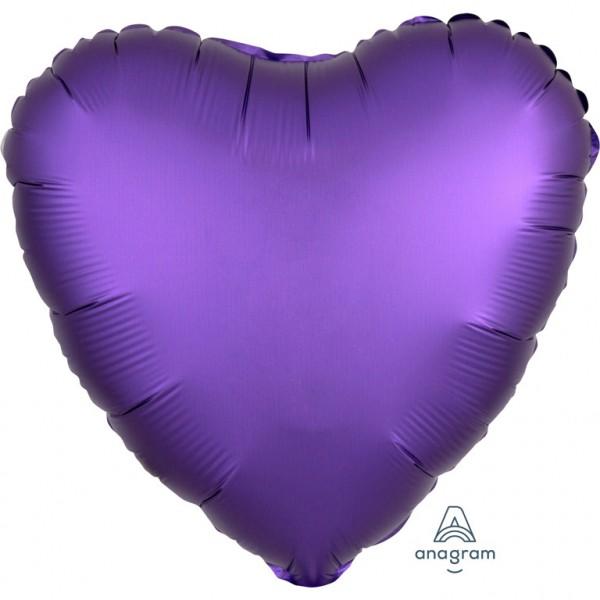Folienballon Herz - Satin Luxe Purple Royale (43cm)