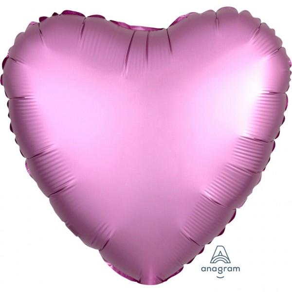 Folienballon Herz - Satin Luxe Flamingo (43cm)