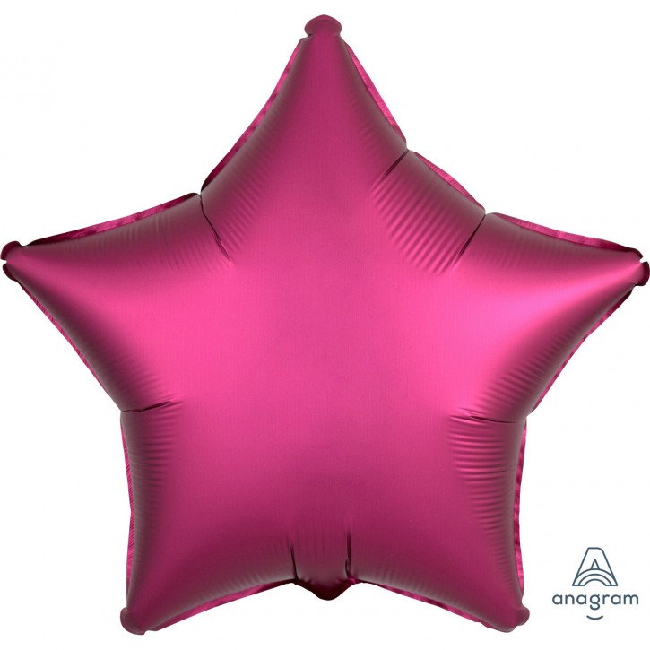 Folienballon Stern- Satin Luxe Pomegranate (48cm)
