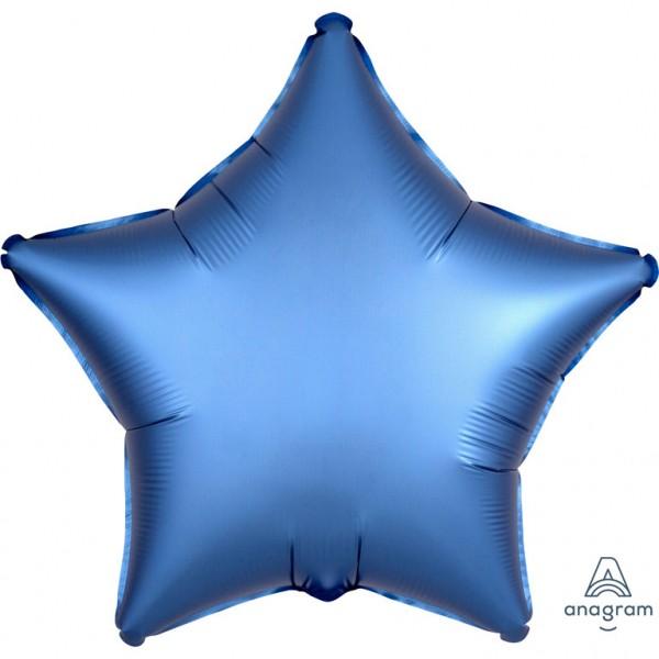Folienballon Stern - Satin Luxe Azure (48cm)