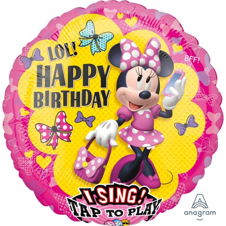 Singender Folienballon - Minnie Mouse (71cm)
