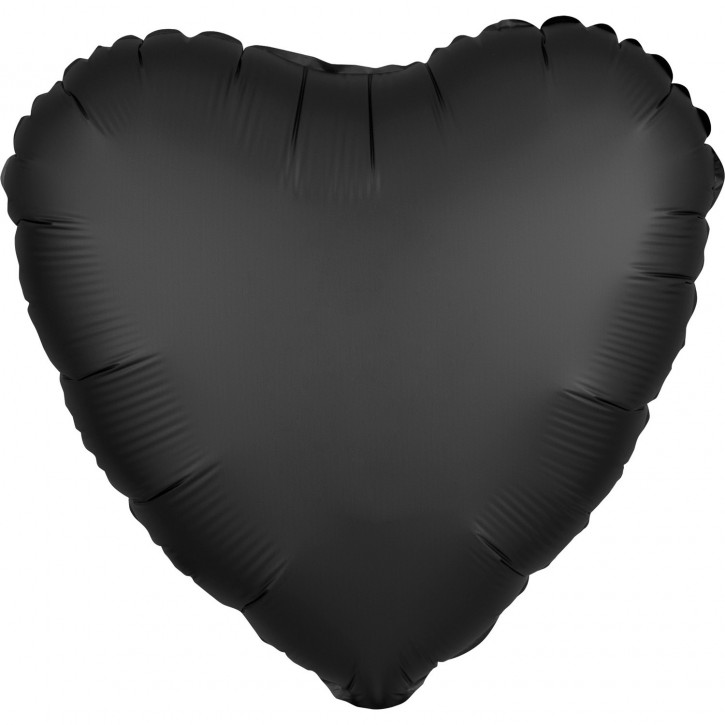Folienballon Herz - Satin Luxe Onyx (43cm)