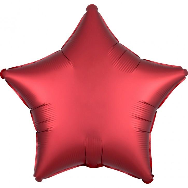 Folienballon Stern - Satin Sangria Star (48cm)