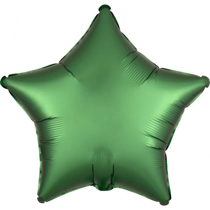 Folienballon Stern - Satin Luxe Emerald (48cm)