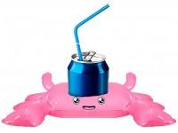 Aufblasbarer Krebs als Getränke-Halter
