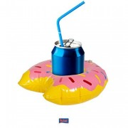 Aufblasbarer Donut als Getränke-Halter
