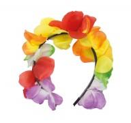 Tiara Haarreif Hawaii mit bunten Blüten