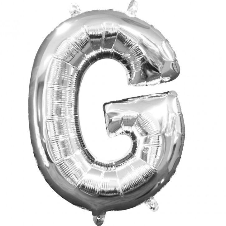 "Air-Filled Folienballon silber - ""G"" (40cm)"