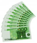 10 Servietten, Motiv: 100-Euro Schein