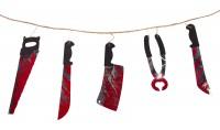4x Hängedekoration Blutige Werkzeuge