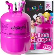 Ballongas-Flasche mit Helium für 30 Ballons