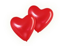 8 Luftballons in Herz-Form