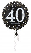 Folienballon Happy Birthday - 40. Geburtstag
