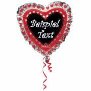Folienballon in Herz-Form (beschreibbar)