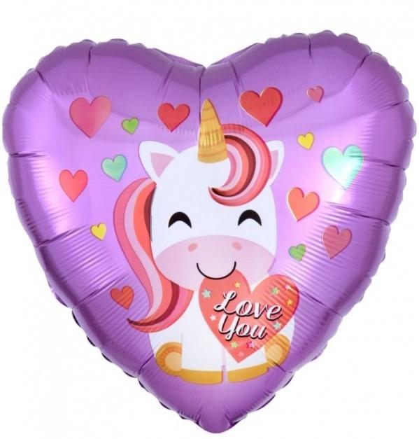 Folienballon Herz - Love You (43cm)