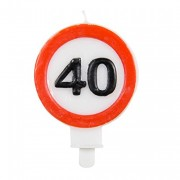 Zahlenkerze 40. Geburtstag