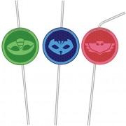 6 Trinkhalme PJ Masks