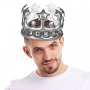 Aufblasbare Krone in Silber