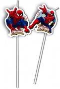 6 Trinkhalme Spiderman - Web Warriors