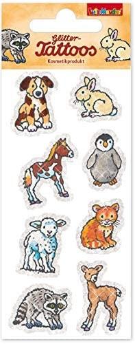 Süße Tierbabys Glitzer-Tattoos