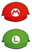 8 Partyhütchen Super Mario Bros.
