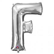 Folienballon XXL-Buchstabe F - in Silber