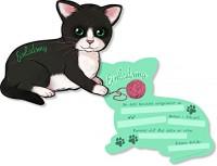 6 Einladungen Katze / Kätzchen
