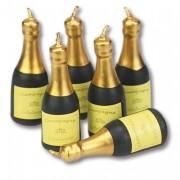 6 Mini-Figurenkerzen Champagner