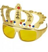 Partybrille mit Goldener Krone