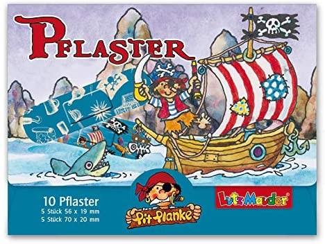 10 Kinder-Pflaster Pirat Pit Planke